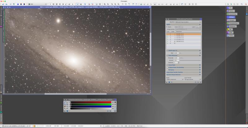 Processing the Stars   M31